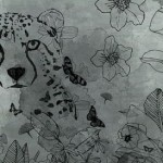 נמר יפה מודפס